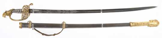 Color image of sword and scabbard used by Henry Sibley.