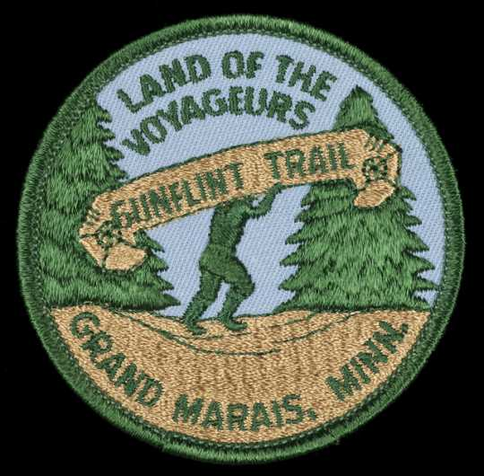 Grand Marais and Gunflint Trail promotional patch, ca. 1986.