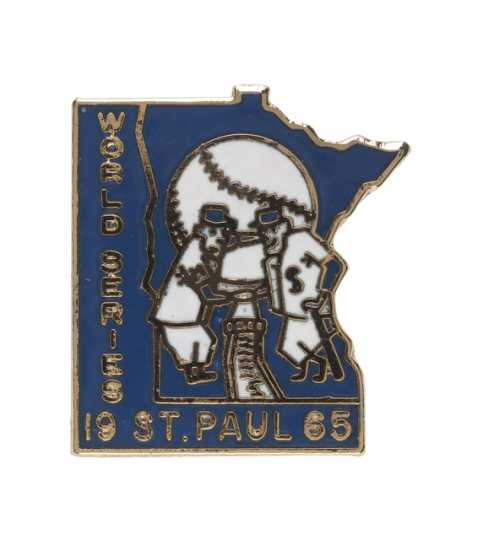 1965 Minnesota Twins World Series pin