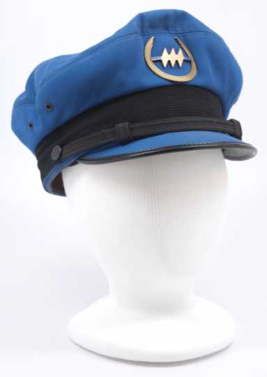 Color image of a Northwest Airlines employee hat made by F. Veskrno Hamilton in Cincinnati, OH, c.1965.