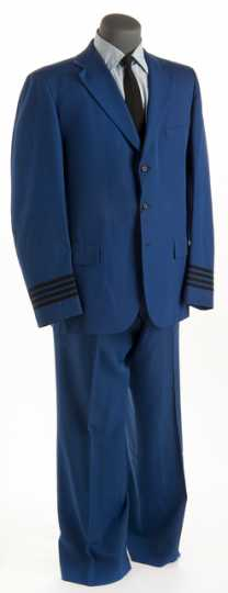 Color image of a Northwest Airlines employee uniform made by F. Veskrno Hamilton, Cincinnati, OH, c.1965.