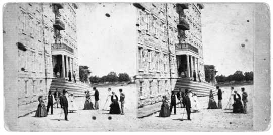 Black and white photograph of Winslow Hotel, St. Anthony, c.1865.