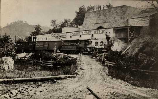 photograph of limestone kiln