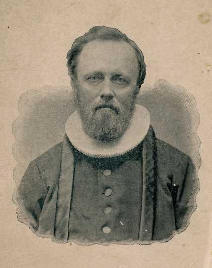 Black and white photograph of Reverend Bernt J. Muus, c.1880.