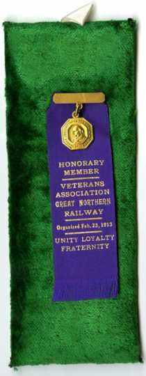 Great Northern Railways Veterans' Association badge