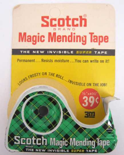 3M-brand Scotch Tape produced in the 1960s. The iconic brand became one of 3M's most notable products.