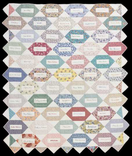 Daughters of Norway quilt, ca. 1945
