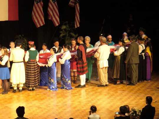 American flag ceremony