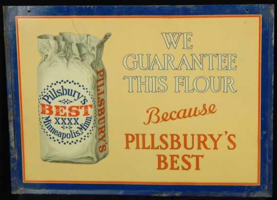 Color image of a sign, Pillsbury's Best Flour, Pillsbury Company, Minneapolis, Minnesota, ca. 1950.