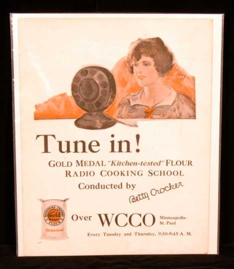 Color image of a Gold Medal Flour and WCCO sign, c.1925.