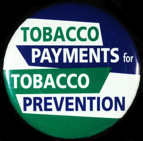 Button produced by the Minnesota Smoke-Free Coalition