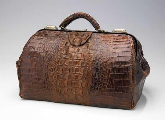 Crocodile-skin bag