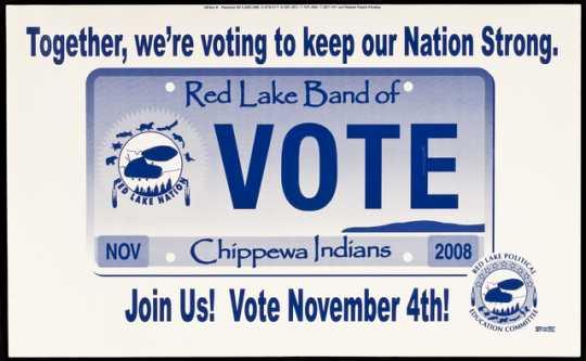 Red Lake political yard sign