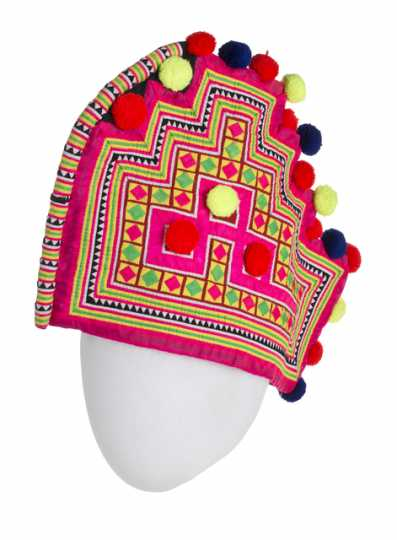 Hmong rooster hat worn by an adult