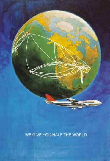 Color image of a Northwest Orient Airlines menu, c.1970.