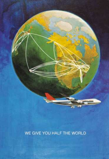 Color image of a Northwest Orient Airlines menu, c.1970.