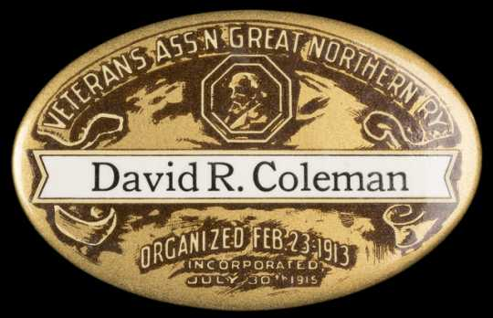 Great Northern Railway Veterans' Association button