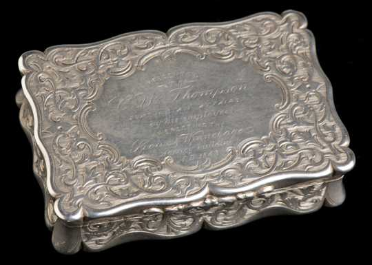 Snuffbox presented to Clark W. Thompson