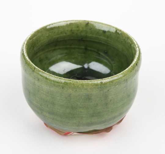 Miniature Japanese green tea prep bowl
