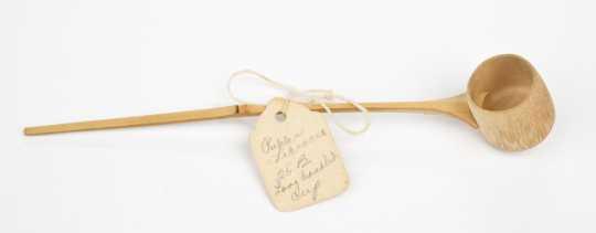 Miniature bamboo ladle