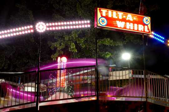 Tilt-A-Whirl at night