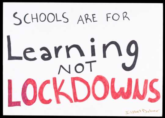 Sign made by student Isabel Dobier and used during the Minnesota High School Walkout and March For Our Lives (organized to draw attention to gun violence in schools) at the Minnesota State Capitol on March 7, 2018.