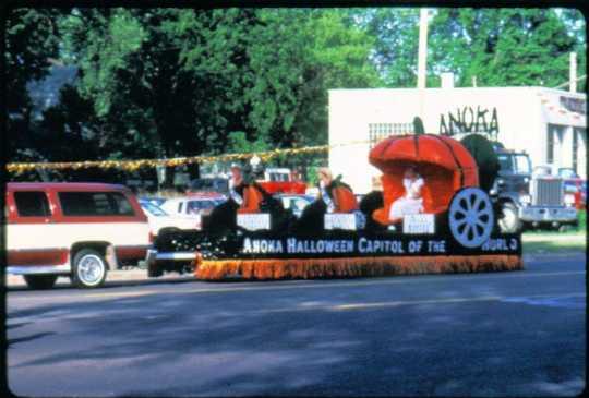 Float in the American Legion Parade at the Anoka Halloween Celebration parade, 1987