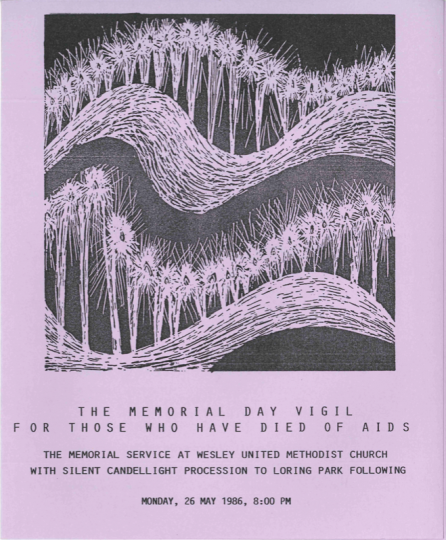 AIDS vigil flyer