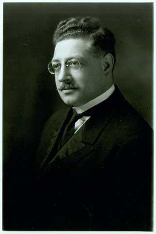 Black and white portrait of C. David Matt, c.1915, Rabbi of Adath Jeshurun Congregation from 1912-1927.