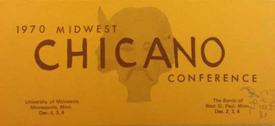 Scan of a detail of detail of a flyer advertising the 1970 Chicano Midwest Conference