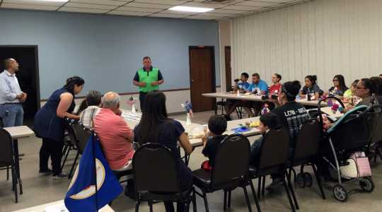 Color image of MCLA staff visit Willmar, Minnesota, for a listening session with residents, June 6, 2017. Used with the permission of the Minnesota Council on Latino Affairs.