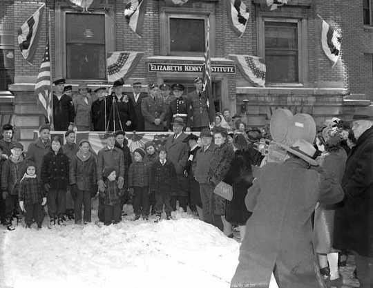 Dedication ceremony, Elizabeth Kenny Institute, 1800 Chicago, Minneapolis.