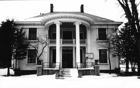 Colonial Hall operating as a museum, date unknown. Beginning in 1971, Anoka's Masonic Lodge No. 30 leased Colonial Hall to the Anoka County Historical Society (ACHS). The house served as a museum and held all of the ACHS collections for thirty years. Used with the permission of the Anoka County Historical Society.