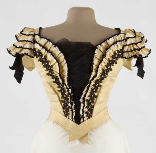 Evening dress bodice