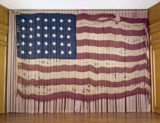 US flag raised in Georgia during the Civil War and preserved by William Gates LeDuc