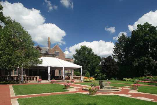 Backyard of the Minnesota governor's mansion