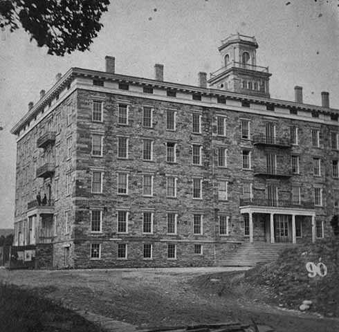 Black and white photograph of Winslow House, St. Anthony, 1860.