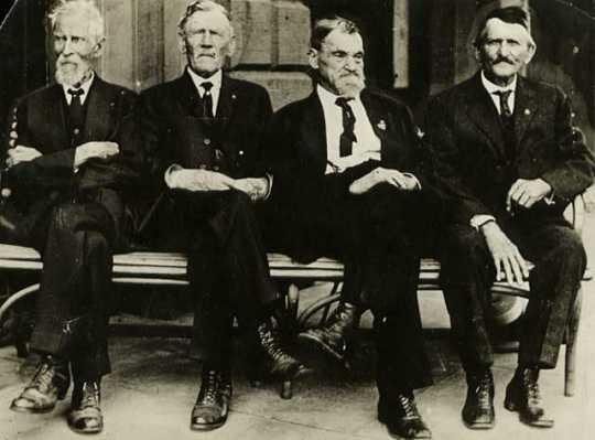 Living members of the Last Man's Club.