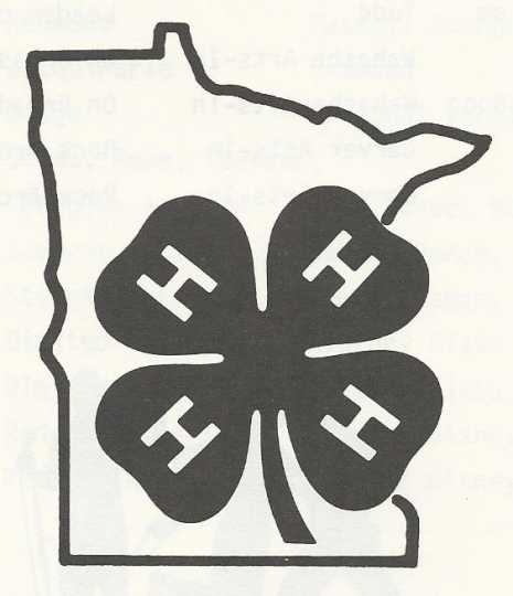 Minnesota 4-H logo. The 4 Hs represent head, heart, hands, and health.