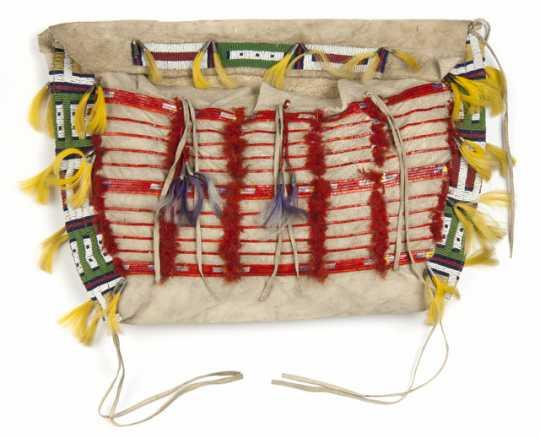 Dakota beaded leather bag
