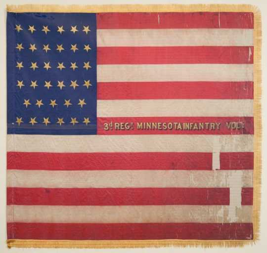 3rd Minnesota national battle flag