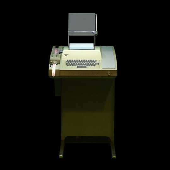 Color image of a Teletype terminal, 2011. Photographed by Wikipedia user Rama.