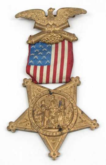Color image of a Grand Army of the Republic medal owned by Josias R. King.