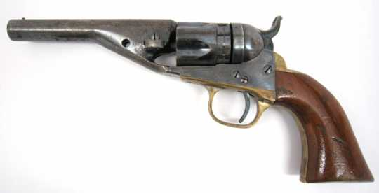 Color image of a Colt Model 1862 police revolver owned by Josias R. King.