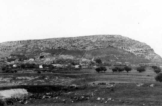 Black and white photograph of Hill 609 in Tunisia, c.1943.