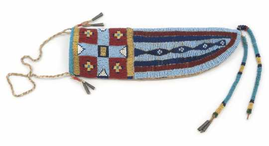Dakota beaded knife sheath
