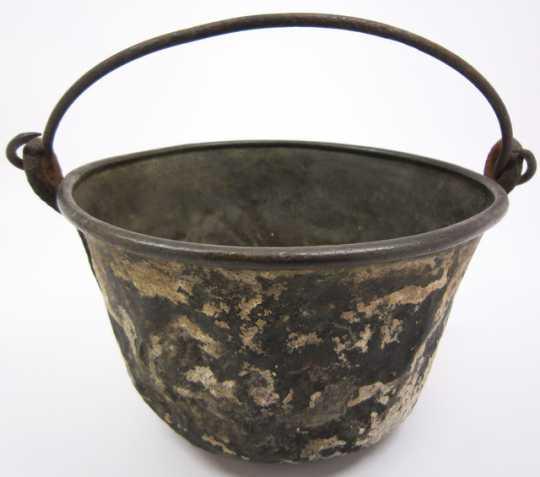Spun brass kettle