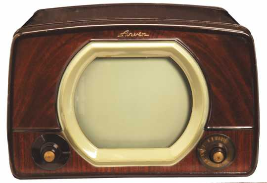 Color image of an Arvin television console made by Noblitt-Sparks Industries, Columbus, Indiana, c.1950.