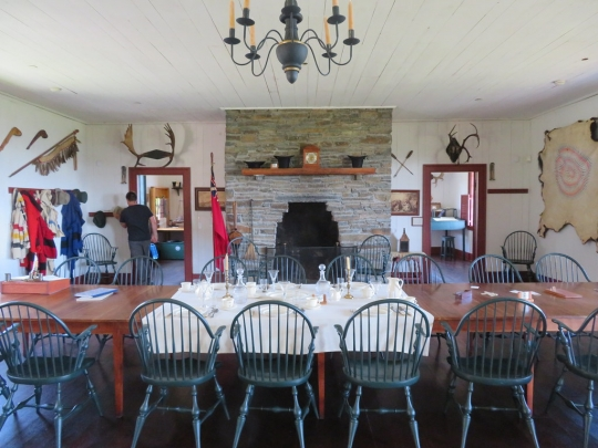 Interior of the Great Hall at Grand Portage