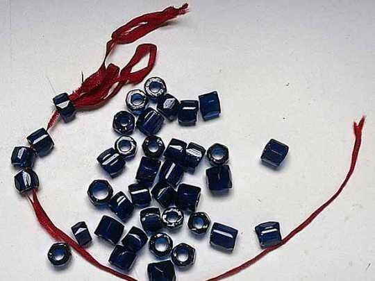 Color image of glass trade beads